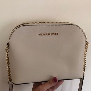 Cream Michael Kors Crossbody Bag